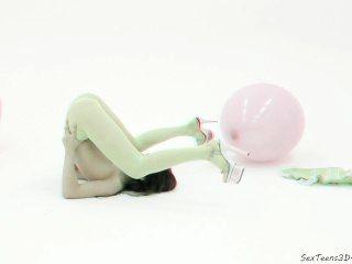 مرنة فتاة في سن المراهقة مما في 3D ستوديو الاباحية وراء الكواليس