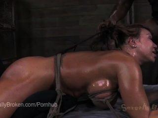 خشب الأبنوس آنا foxxx رأسا على عقب، في عبودية وكومينغ