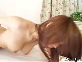 مفلس اليابانية هاروكا ساندا مارس الجنس من الصعب