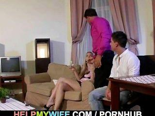 الرجل غريب الساعات زوجته الحصول مارس الجنس