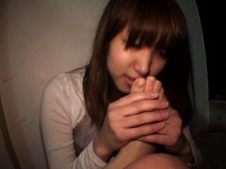 اليابان فتاة العبادة القدم النفس