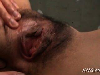 أصابع الرجل شعر في سن المراهقة الآسيوية بشدة لهزة الجماع