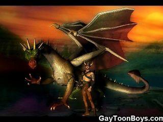العضلات 3D الخيال مثلي الجنس!