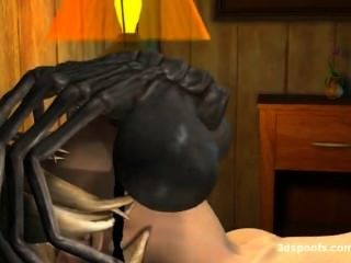 facehugger 3D التشريب الفموي والمهبلي.غريب نوعاما