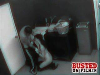كاميرا الأمن الأفلام زوجين سخيف