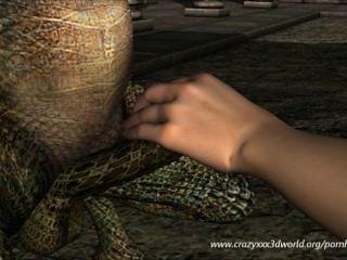 3D الرسوم المتحركة: جنية والتنين