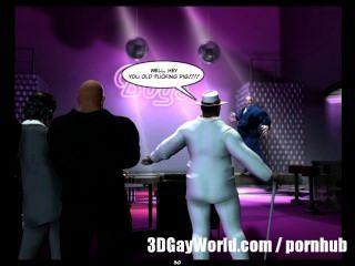 العربدة العامة جنون في نادي مثلي الجنس الكوميديا مثلي الجنس 3D أو قصة الكرتون أنيمي