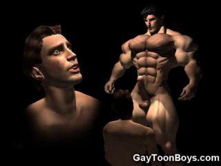 العضلات 3D مثليون جنسيا الديك الخيال!