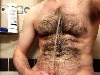 رش ينبوع شخ على صدري شعر