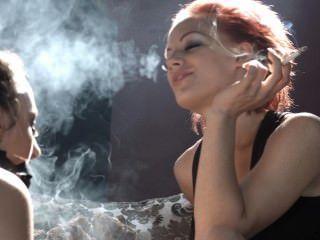 ولو تهيمن حسناء من الباطن مع دخان لها ويجعل لها إرضاء سيدتها