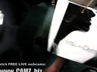 الساقين العضلات الإناث في كاميرات حافلة