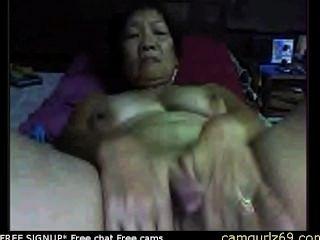 الجدة الآسيوية الهواة على كام المتلصص الجنس كام كام