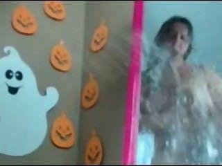 السمين وقحة هالوين مرآة بخ
