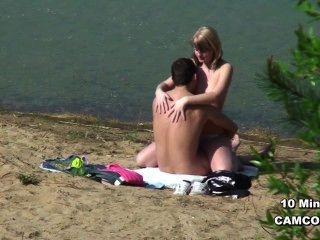 الألمانية المتلصص زوجين شابين في اللعنة على الشاطئ من بولتينهاجين