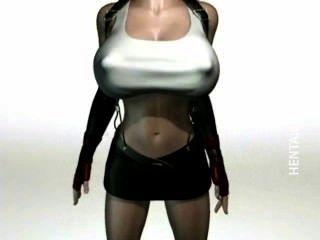 صدري 3D أنيمي عاهرة اللعنة ديك