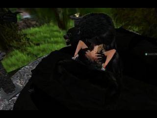 بالذئب اختراق مزدوج على فتاة فقيرة