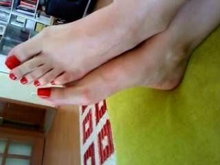 زوجة أصابع الحمراء