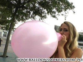 أول مرة looner كارتر كروز يفجر البالونات خارج