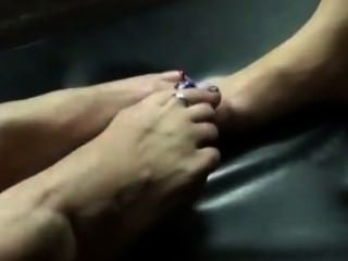 أم footsies خطوة ابنة