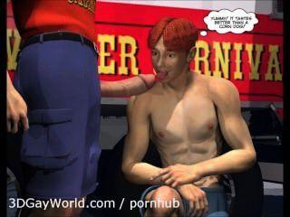 تشارلي في الكرنفال: الرسوم المتحركة 3D مثلي الجنس كاريكاتير انمي هنتاي