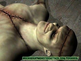 3D الوحش الاباحية: الصريح وفاتنة اللعنة