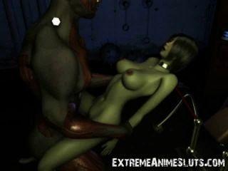 3D صدمة الخيال العلمي الجنس!