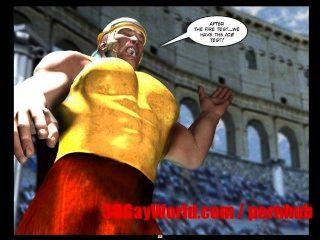الألعاب الأولمبية مثلي الجنس مضحك الرسوم المتحركة 3D مثلي الجنس أنيمي كاريكاتير الثلاثون القديم نكتة 3dgay