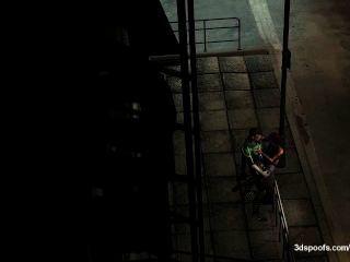 latern الأخضر والضوء قوس الحصول على شقي قليلا تحت أضواء الشوارع