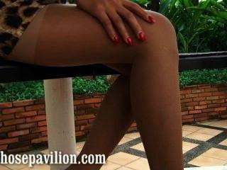 مثير nonnude معاينة جوارب طويلة الساق ندف التي كتبها الساخنة تايلند نموذج xanny